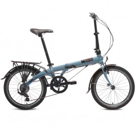 Bicicleta Plegable Aluminio Dahon VybeD7 7 velocidades Azul Folding Bike Bicycle