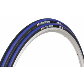 Cubierta Bici Hutchinson Carretera Nitro 2 Negra/Azul 700X23 Road Bicycle Tyre