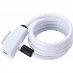 Candado bicicleta BBB Quicksafe Blanco 8mmx1500mm BBL-61 Referencia/Part nº: 2911501025